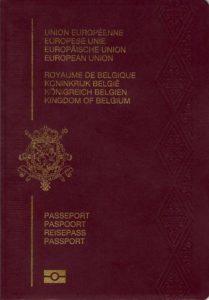 Cestovní pas - Belgie