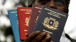 Cestovní pas - Somálsko