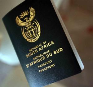 Cestovní pas - Jihoarfická Republika